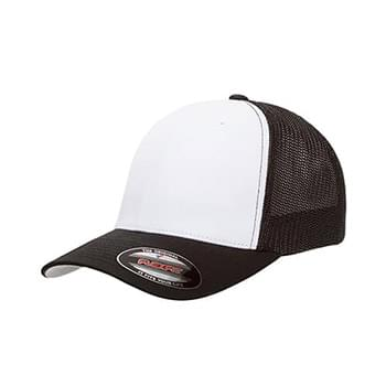 Flexfit Trucker Mesh with White Front Panels Cap