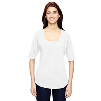 Ladies' Triblend Deep Scoop 1/2-Sleeve T-Shirt