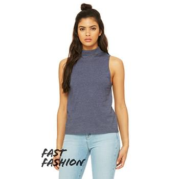 Fast Fashion Ladies' Mock Neck Tank