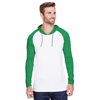 Men's Hooded Raglan Long Sleeve Fine Jersey T-Shirt
