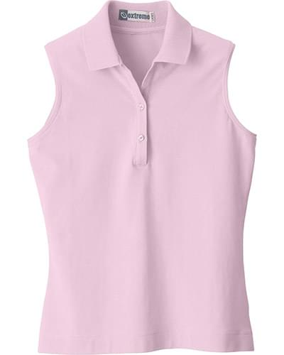 Ladies Sleeveless Stretch Jersey Polo
