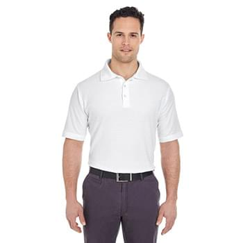 Men's Platinum Honeycomb Piqu? Polo