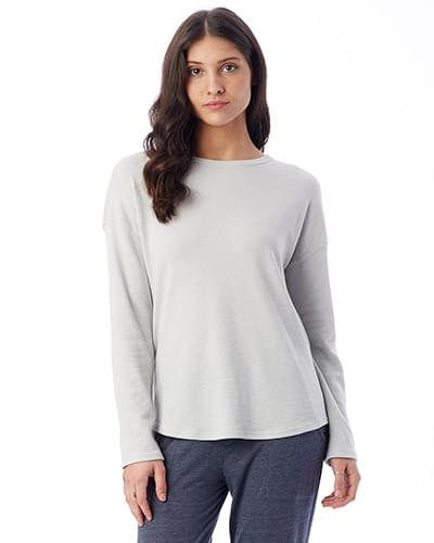 Ladies' Dropped Shoulder Vintage Heavy Knit Pullover