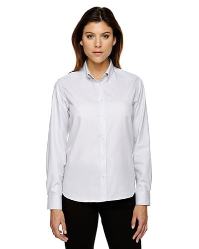 Echelon?Ladies' Wrinkle Resistant Cotton Blend Houndstooth Taped Shirt