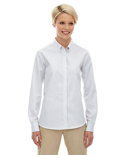 Ladies' Establish Wrinkle-Resistant Cotton Blend Dobby Stripe Shirt