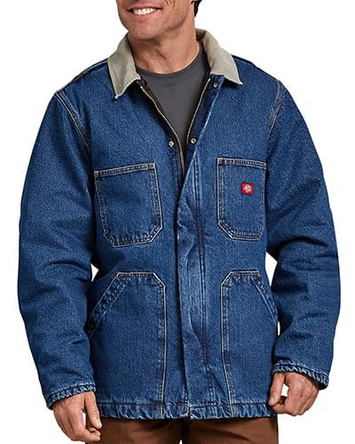 Men's Denim Zip Front Chore Coat