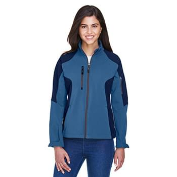 Ladies' Compass Colorblock Three-Layer Fleece Bonded Soft Shell Jacket