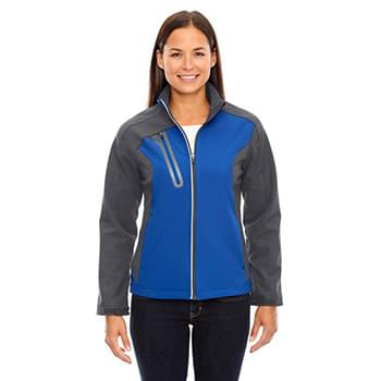 Ladies' Terrain Colorblock Soft Shell with Embossed Print