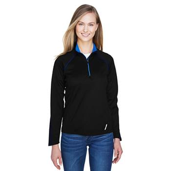 Ladies' Radar Quarter-Zip Performance Long-Sleeve Top