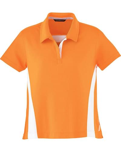 Ladies' Polyester Pique Polo with Stripe