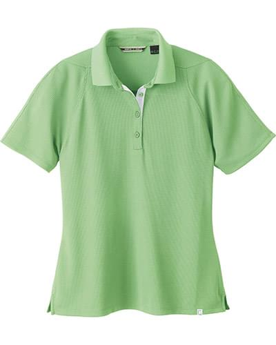 LADIES' RECYCLED POLYESTER PERFORMANCE WAFFLE POLO