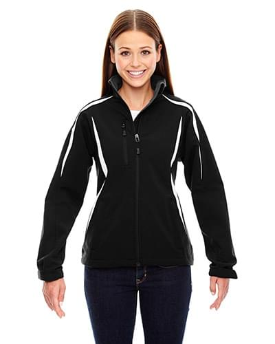 Ladies' Enzo Colorblocked Three-Layer Fleece Bonded Soft Shell Jacket