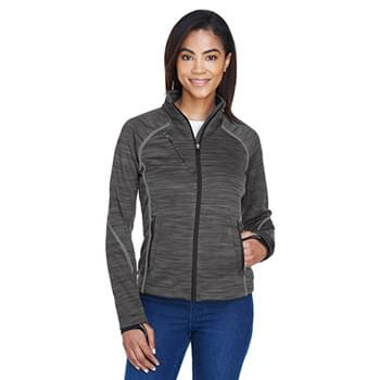 Ladies' Flux Mlange Bonded Fleece Jacket