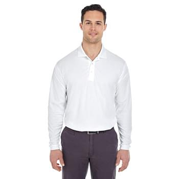 Adult Cool & Dry Long-Sleeve Mesh?Piqu? Polo