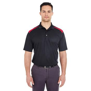 Adult Cool & Dry Two-Tone Mesh Piqu Polo