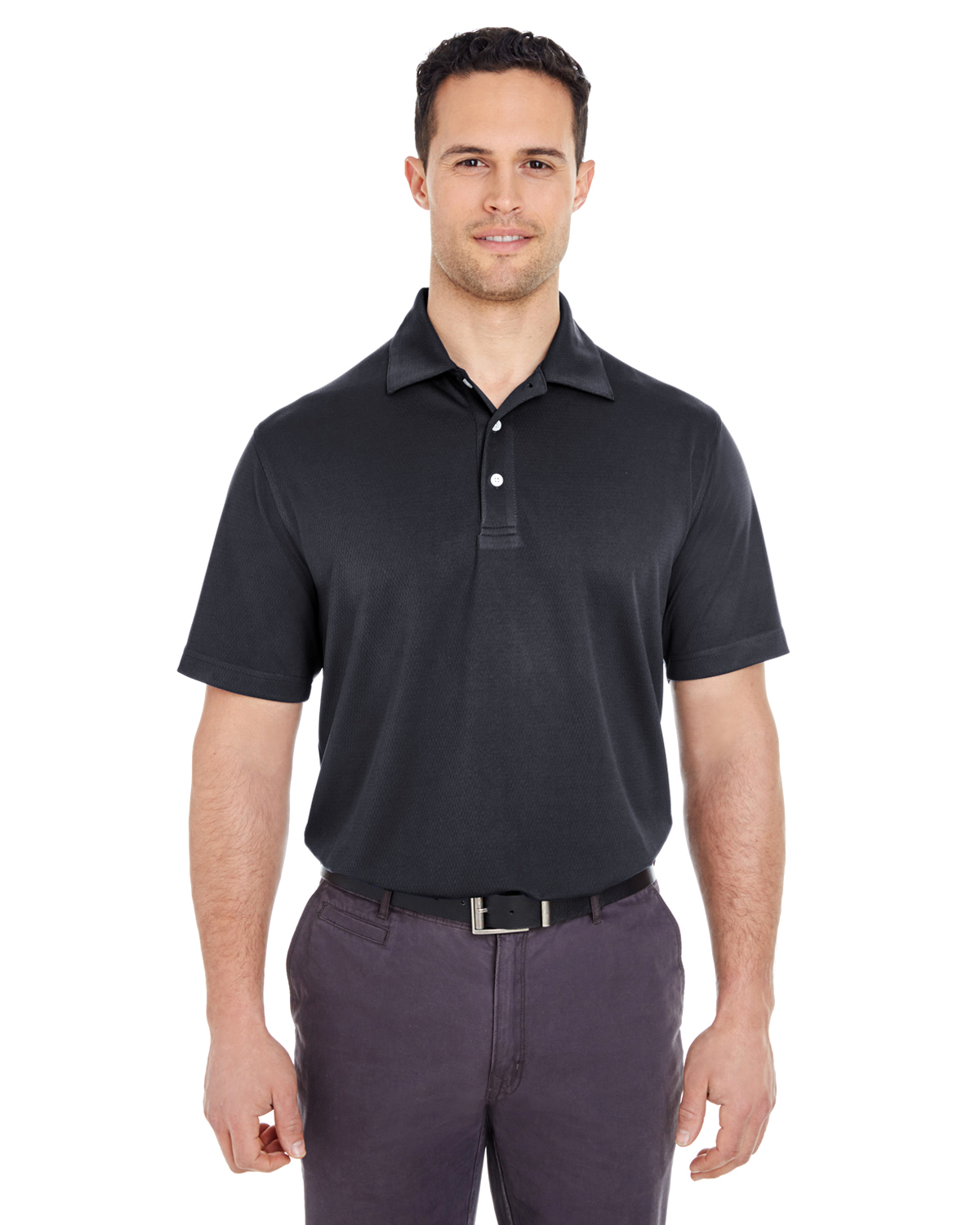Men's Platinum Performance Jacquard Polo withTempControl Technology