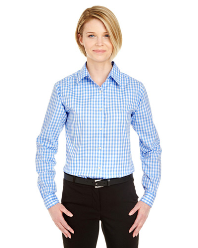 Ladies' Medium-Check Woven