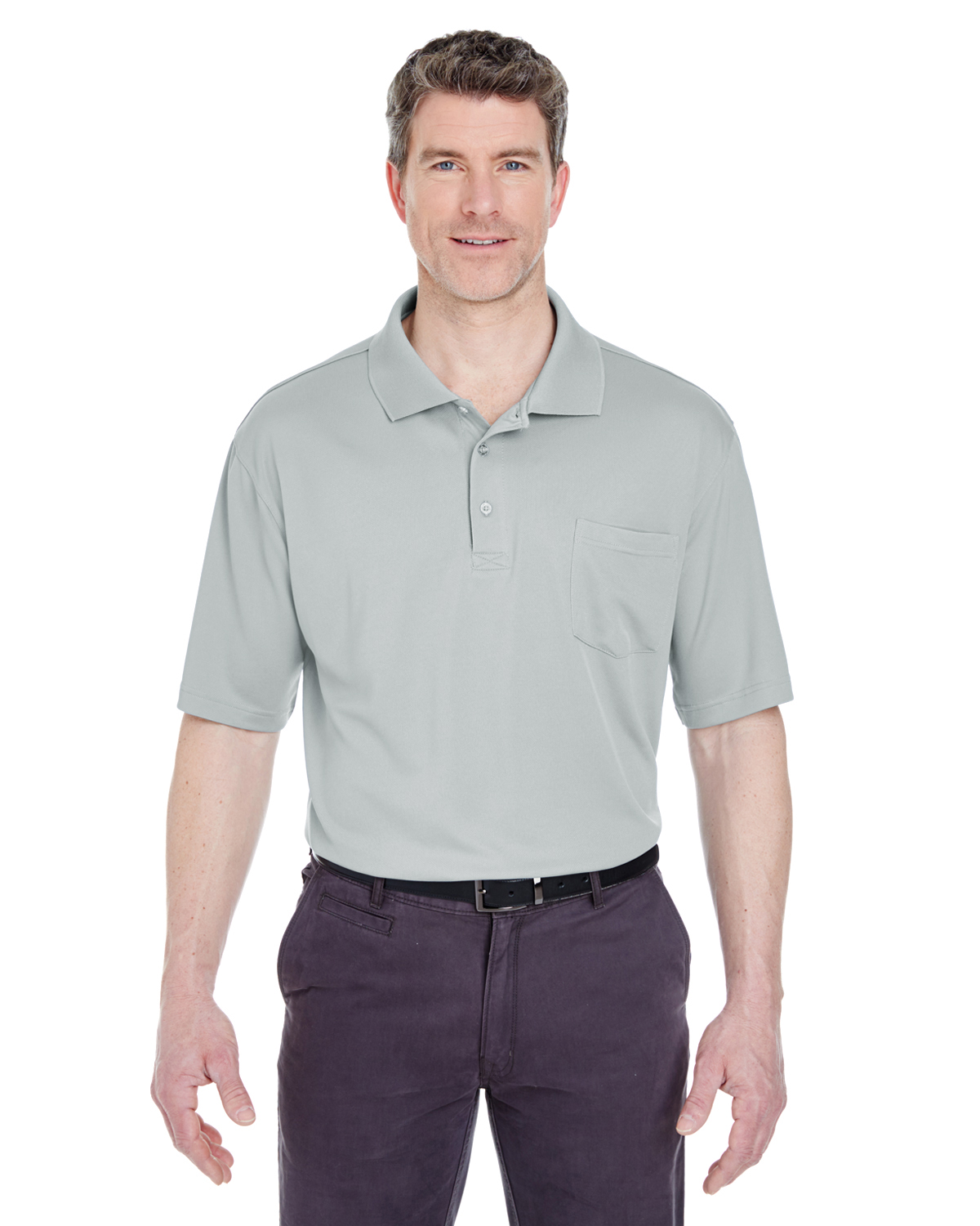 Adult Cool & Dry Sport Polo withPocket