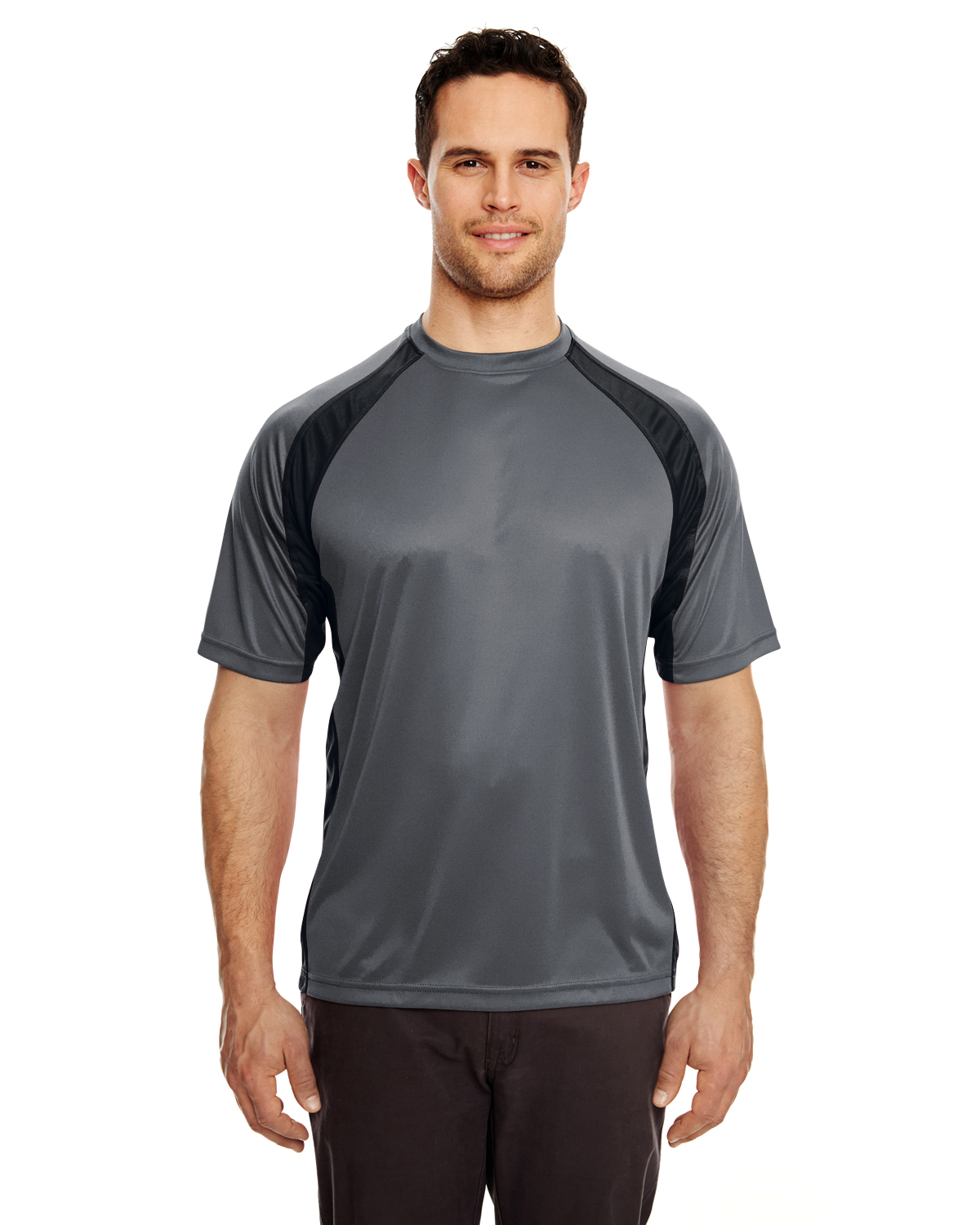 Adult Cool & Dry Sport Two-Tone Performance Interlock T-Shirt