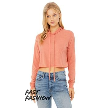 Ladies' Cropped Long Sleeve Hoodie T-Shirt