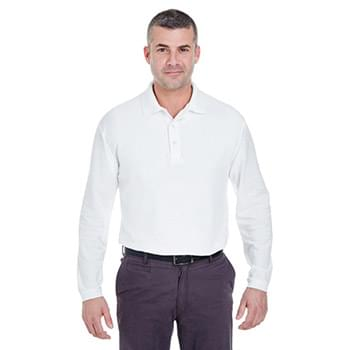 Adult Long-Sleeve Whisper Piqu? Polo