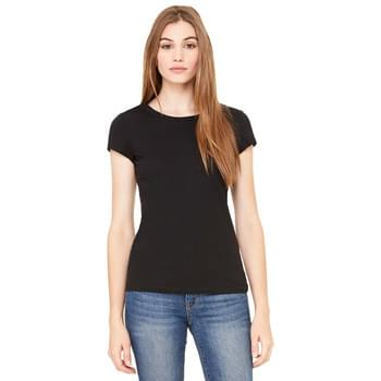 Ladies' Sheer Mini Rib Short-Sleeve T-Shirt