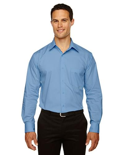 Men's Luster Wrinkle-Resistant Cotton Blend Poplin Taped Shirt