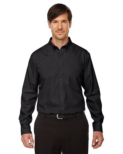 EchelonMen's Wrinkle Resist Cotton Blend Houndstooth Taped Shirt