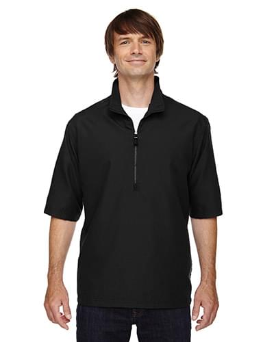 Men's MICRO Plus Lined Short-Sleeve Wind Shirt with Teflon