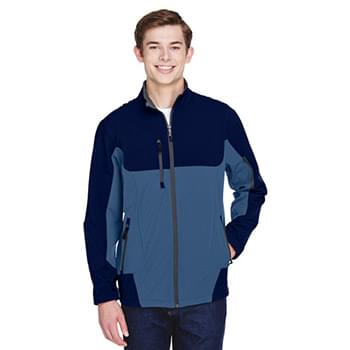 Men's Compass Colorblock Three-Layer Fleece Bonded Soft Shell Jacket
