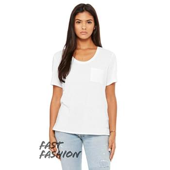 Fast Fashion Ladies' Flowy Pocket T-Shirt