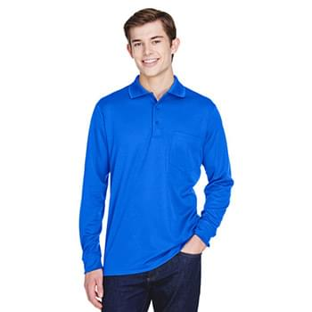 Adult Pinnacle Performance Long-Sleeve Piqu Polo with Pocket