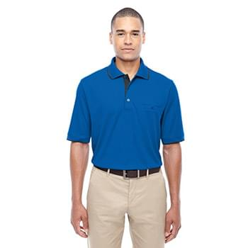 Men's Motive Performance Piqu? Polo with Tipped Collar