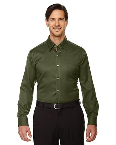 Men's Legacy Wrinkle-Free Two-Ply 80's Cotton Jacquard Taped Shirt