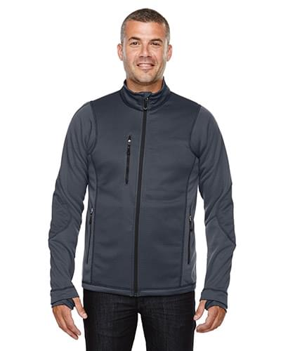 Men's Pulse Textured Bonded Fleece Jacket with Print