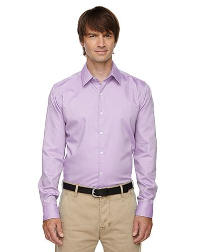 Men's Refine Wrinkle-Free Two-Ply 80's Cotton Royal Oxford Dobby Taped Shirt