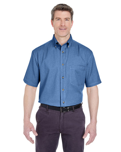 Adult Cypress Short-Sleeve Denim with Pocket