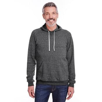 Adult 7.2 oz., Snow Heather Raglan Hooded Sweatshirt
