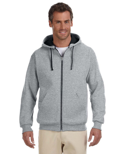 Adult 8 oz. NuBlend Contrast Full-Zip Hood