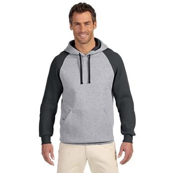 Adult NuBlend? Colorblock Raglan Pullover Hooded Sweatshirt