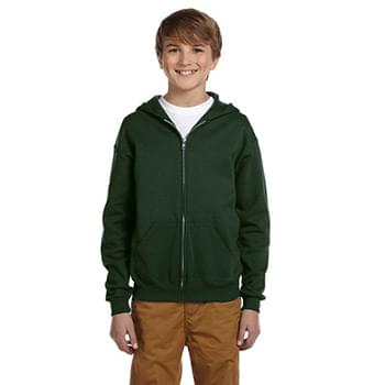 Youth 8 oz. NuBlend Fleece Full-Zip Hood