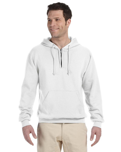 Adult 8 oz. NuBlend Fleece Quarter-Zip Pullover Hood