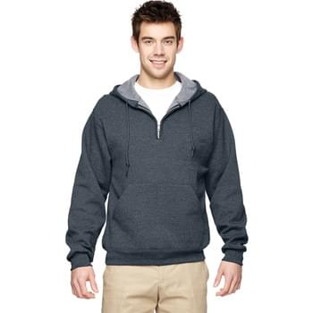 Adult NuBlend Fleece Quarter-Zip Pullover Hooded Sweatshirt