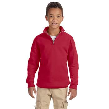 Youth 8 oz. NuBlend? Quarter-Zip Cadet Collar Sweatshirt