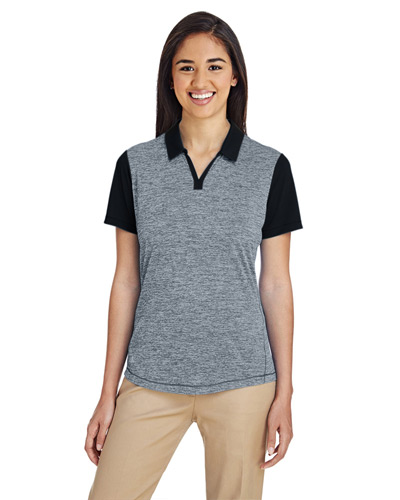 Ladies' Heather Block Polo