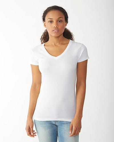 Ladies' Baby Rib V-Neck