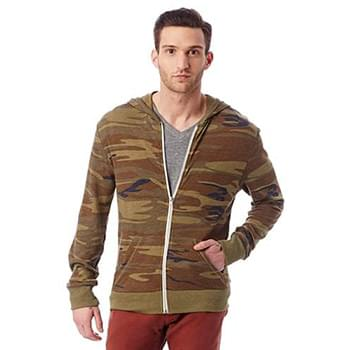 Men's Eco-Jersey Triblend Long-Sleeve Printed Full Zip Hoodie