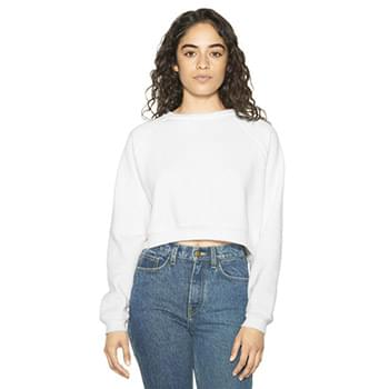 Ladies' Flex Fleece Raglan Cropped Sweatshirt