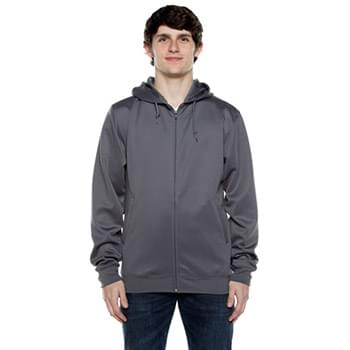 Unisex 9 oz. Polyester Air Layer Tech Full-Zip Hooded Sweatshirt