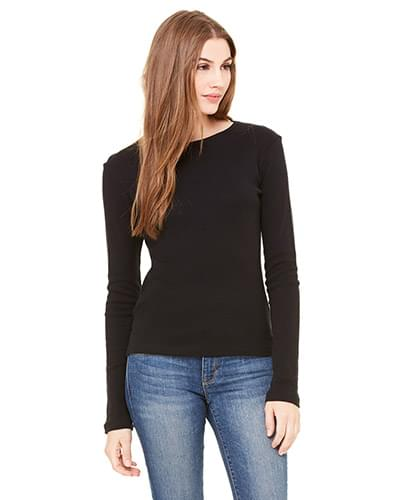 Ladies' Stretch Rib Long-Sleeve T-Shirt